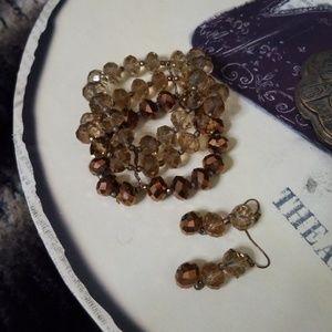 Jewelry - Beaded bracelet & matching earrings